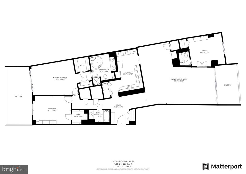 Floor Plan - 1300 CRYSTAL DR #306S, ARLINGTON