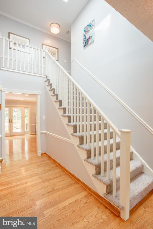Foyer, New Banister and Rails on Staircase - 1960 BARTON HILL RD, RESTON