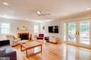 Living Room Facing 42 Ft Deck, New Doors - 1960 BARTON HILL RD, RESTON