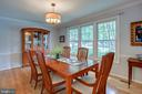 Dining Room Facing Front of Home and Trees - 1960 BARTON HILL RD, RESTON