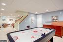 Lower Level Recreation Room Air Hockey Conveys - 1960 BARTON HILL RD, RESTON