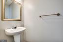 powder room on main floor - 6 S POINTE LN, FREDERICKSBURG