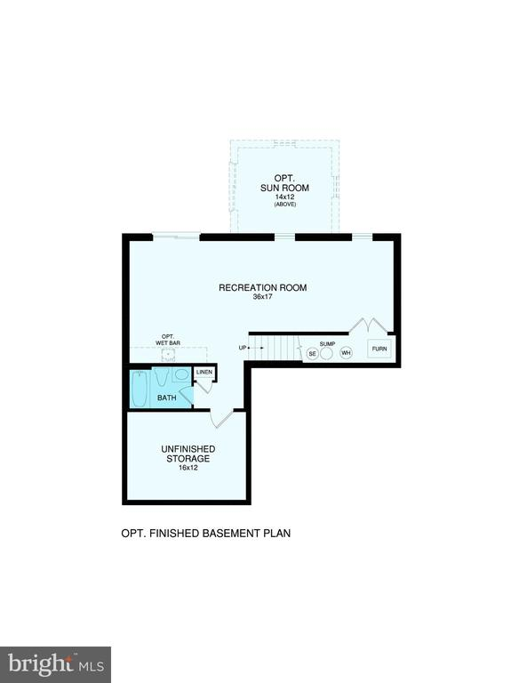 Reese - Unfinished basement included. - 276 ANDERSON DR, FREDERICKSBURG
