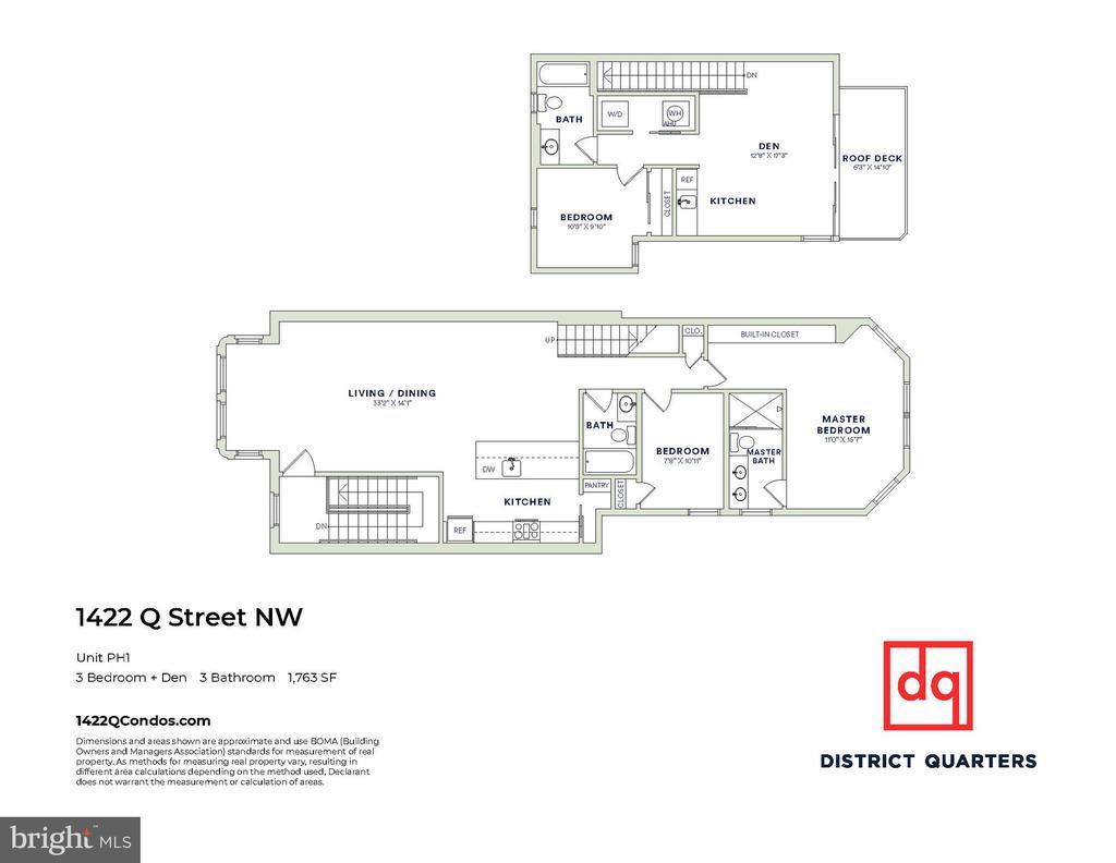 Floor Plan - Unit #PH1 - 1422 Q ST NW #PH1, WASHINGTON