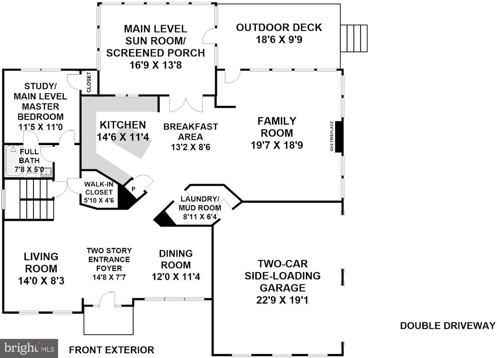 Main Level Floor Plan (Dimensions Approximate) - 3810 COLONIAL AVE, ALEXANDRIA