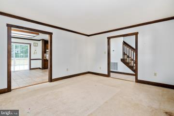 view of living room and dining area - 3204 AQUIA DR, STAFFORD
