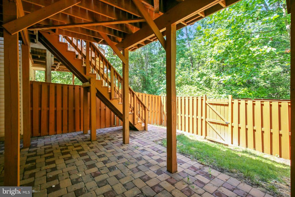 Patio off Basement - 8560 WYNGATE MANOR CT, ALEXANDRIA