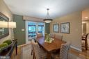 Dining Room with French doors closed - 505 WOODSHIRE LN, HERNDON