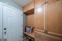 Garage entrance from laundry/drop zone - 505 WOODSHIRE LN, HERNDON