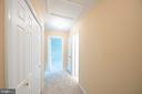 Upper hallway is extra wide  with 2 linen closets - 505 WOODSHIRE LN, HERNDON