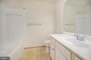 Hall full bath - 48 HUNTING CREEK LN, STAFFORD