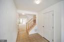 Foyer view into basement living area - 48 HUNTING CREEK LN, STAFFORD