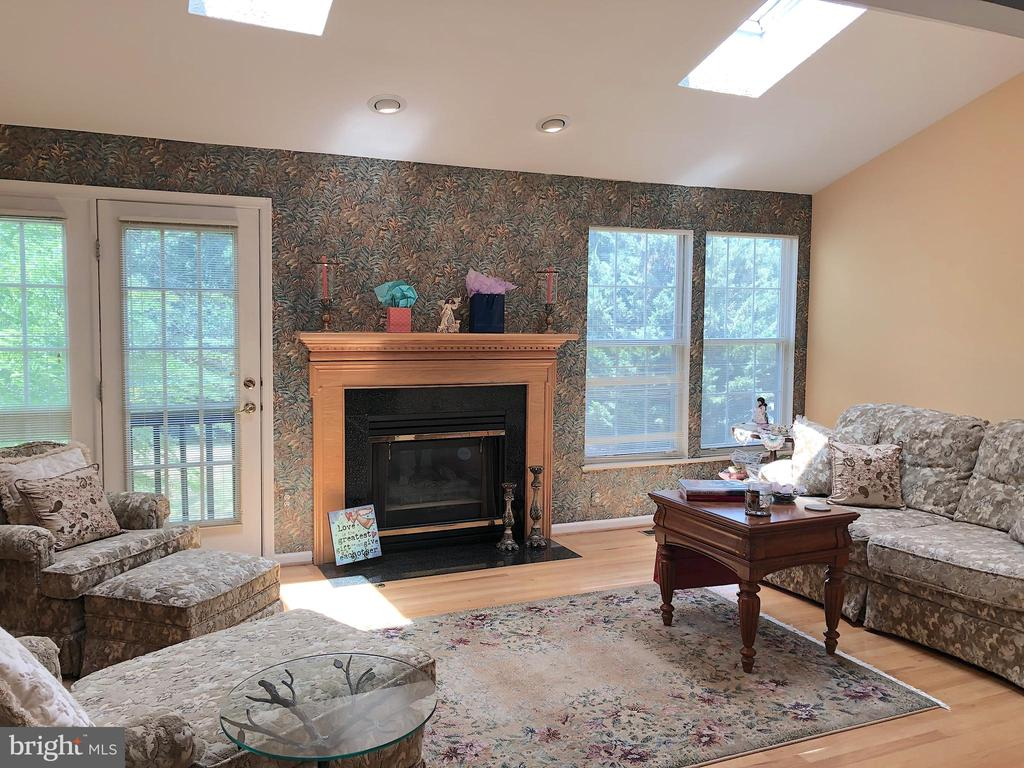 Family room-wood floors, vaulted ceiling,skylights - 4301 CIDER BARREL CT, FREDERICKSBURG