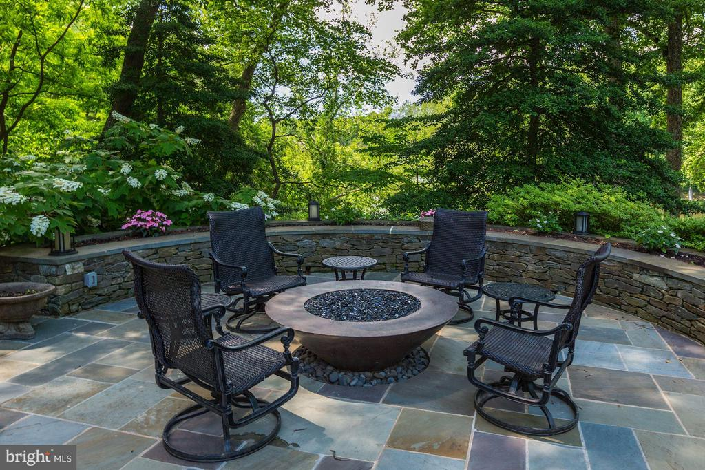 Gas Fire Pit  overlooks Lake - 10 STANMORE CT, POTOMAC