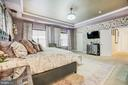Master suite with tray ceiling and cover lighting - 3805 COLONIAL AVE, ALEXANDRIA