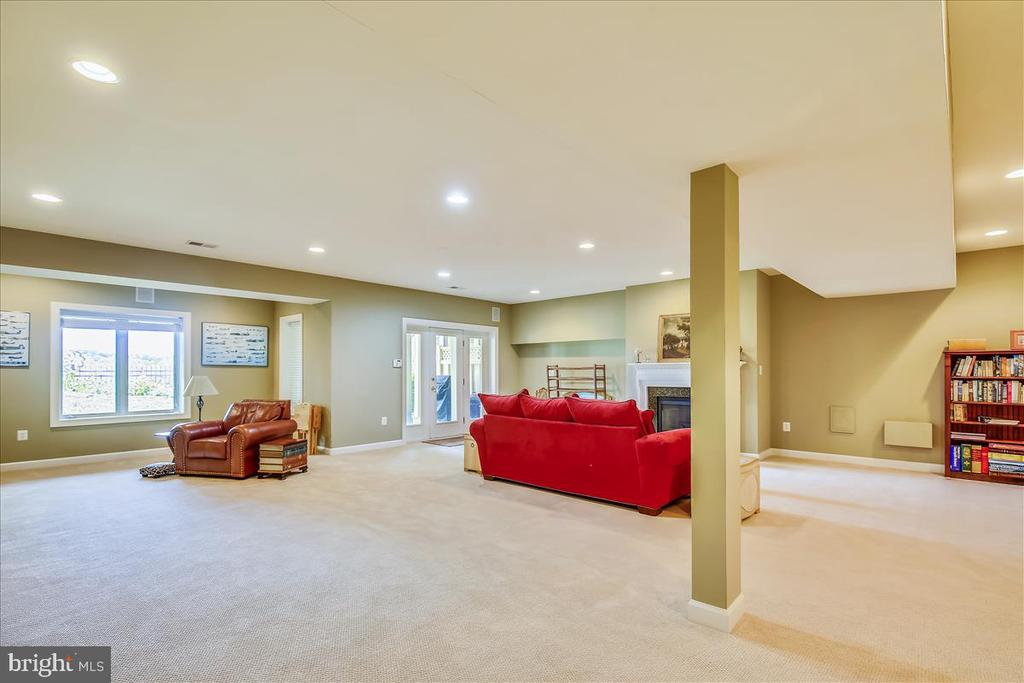 Huge walk out finished lower level rec room! - 18356 FAIRWAY OAKS SQ, LEESBURG