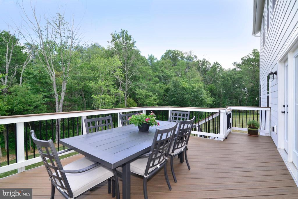 Deck with Stairs and treed views - 24890 DAHLIA MANOR PL, ALDIE