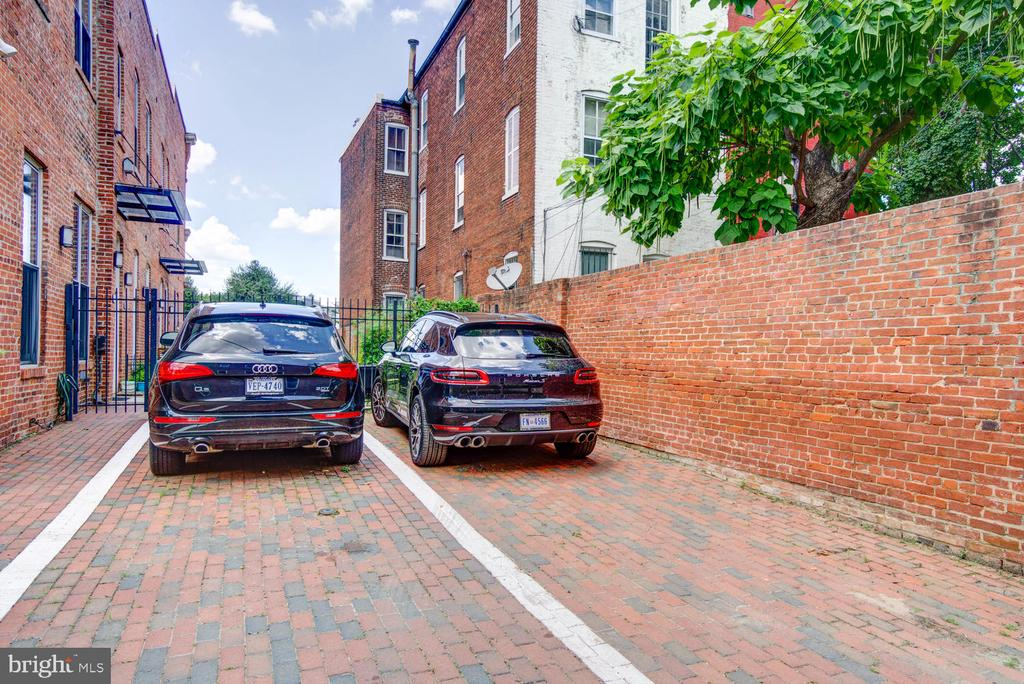 Private parking (space to the right) - 1341 MARYLAND AVE NE #103, WASHINGTON