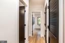 Upper Level Hallway to 2nd and 3rd bedrooms - 24 CHANNING ST NW, WASHINGTON