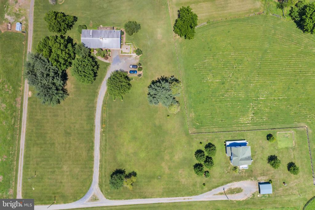 Aerial View of Both Houses (23874 and 23880) - 23880 ALDIE DAM RD, ALDIE