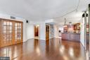 Den just off Living Room w/ French doors - 1099 22ND ST NW #304, WASHINGTON