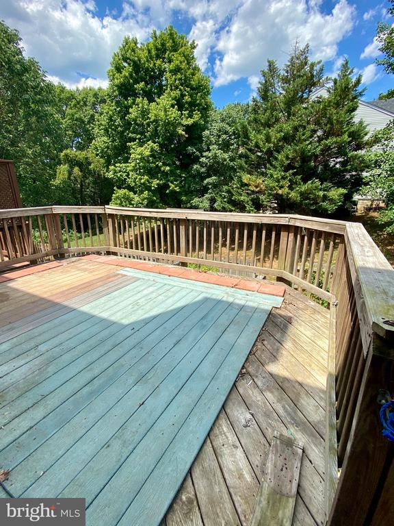 Main Level Deck off Family Room - 209 ASTON CT, STAFFORD