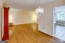 Natural flow from kitchen to dining to living room - 6100 THOMAS DR, SPRINGFIELD