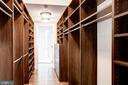 Owner's suite walk thru closet - fully outfitted - 7459 ARLINGTON RD, BETHESDA