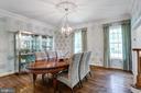 Dining Room - 11329 HENDERSON RD, FAIRFAX STATION