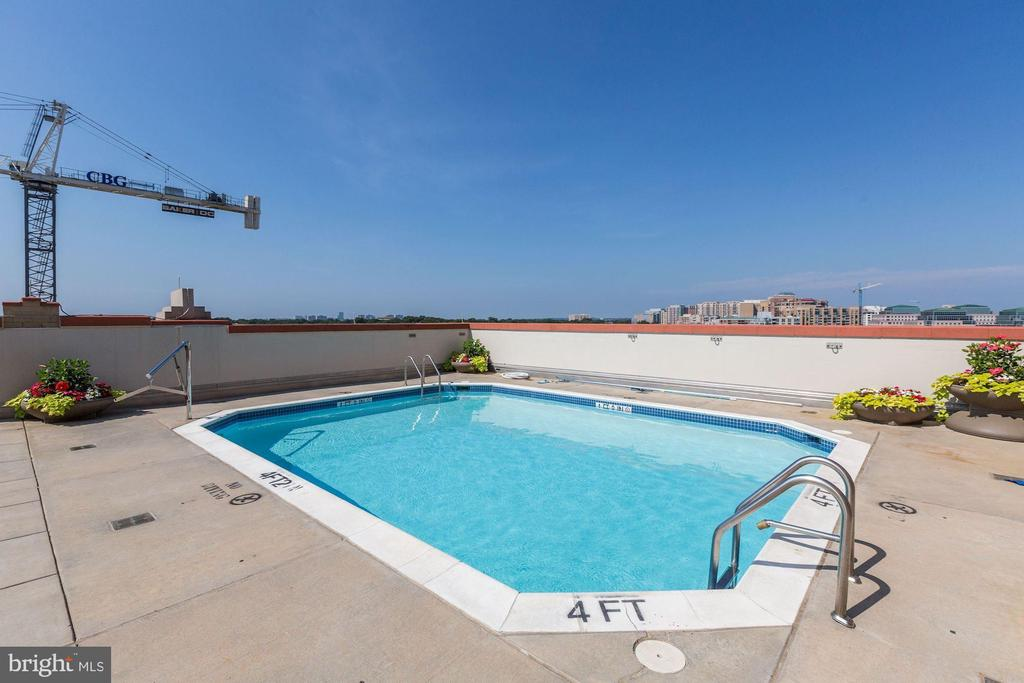 Rooftop pool - 1020 N HIGHLAND ST #413, ARLINGTON