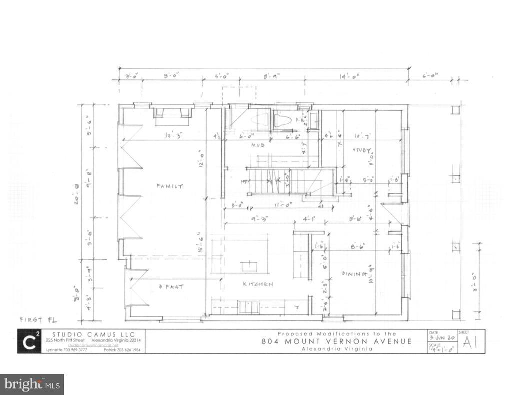 Open concept and functional floor plan - 804 MOUNT VERNON AVE, ALEXANDRIA