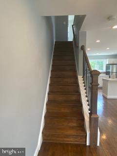 Upper Lvl Stairs - 837 OGLETHORPE ST NE, WASHINGTON