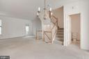 Living room/dining room - 2504 CLOVER FIELD CIR, HERNDON