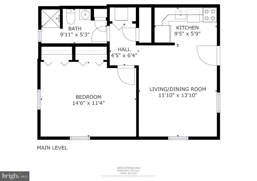 Floor Plan - 10 W ALL SAINTS ST #102, FREDERICK