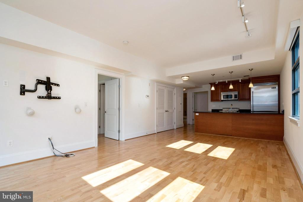 view of the kitchen from the main living area - 1830 JEFFERSON PL NW #14, WASHINGTON