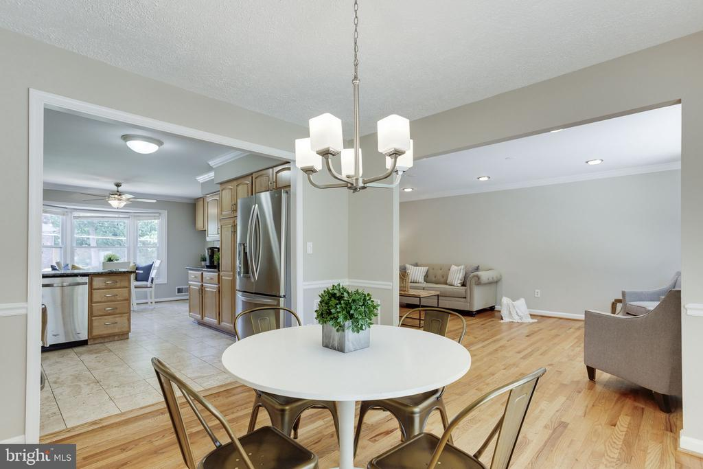 Dining Room to Kitchen - 1906 GREAT FALLS ST, MCLEAN