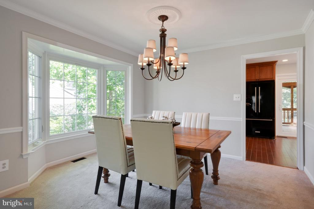 Spacious dining room - 3619 ELDERBERRY PL, FAIRFAX