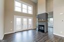 Unique double sized fireplace - 6823 W SHAVANO, NEW MARKET