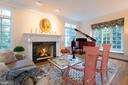 Wood-burning Fireplace in Living Room - 3601 SURREY DR, ALEXANDRIA