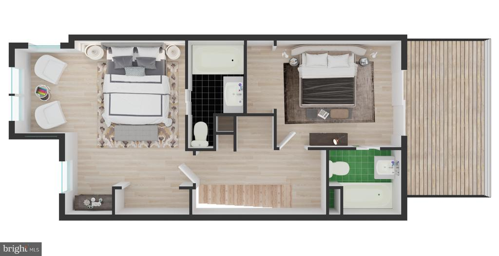 Upper Level Floor Plan - 704 G ST NE, WASHINGTON