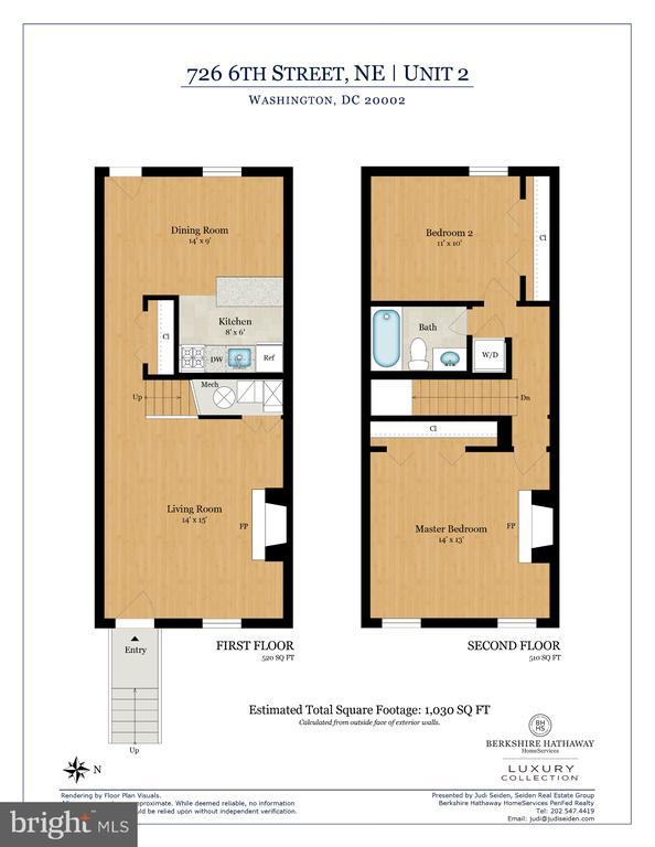 Two Bedroom Upper Unit Floor Plans - 726 6TH ST NE, WASHINGTON