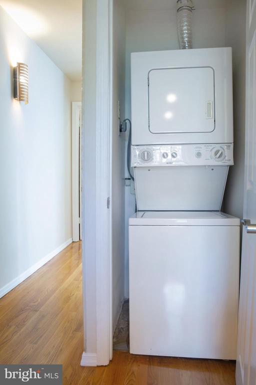 Upper Level Hall Stacked Washer and Dryer - 726 6TH ST NE, WASHINGTON