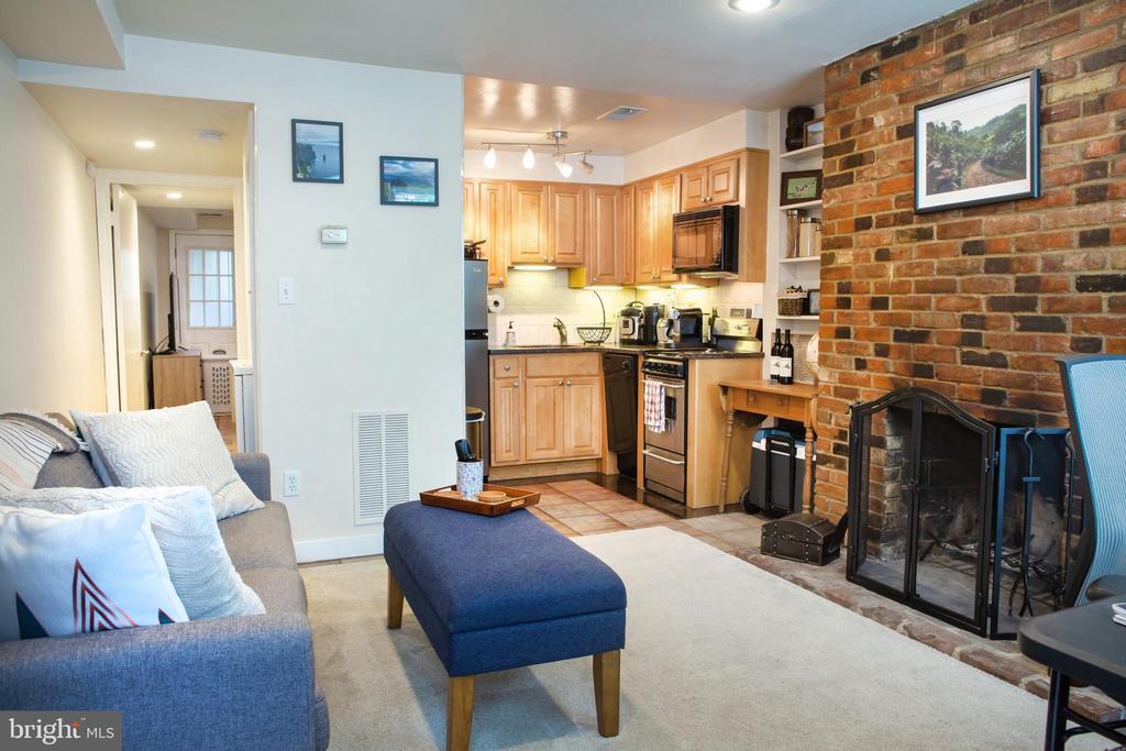 Lower Unit Living Room Northwest - 726 6TH ST NE, WASHINGTON
