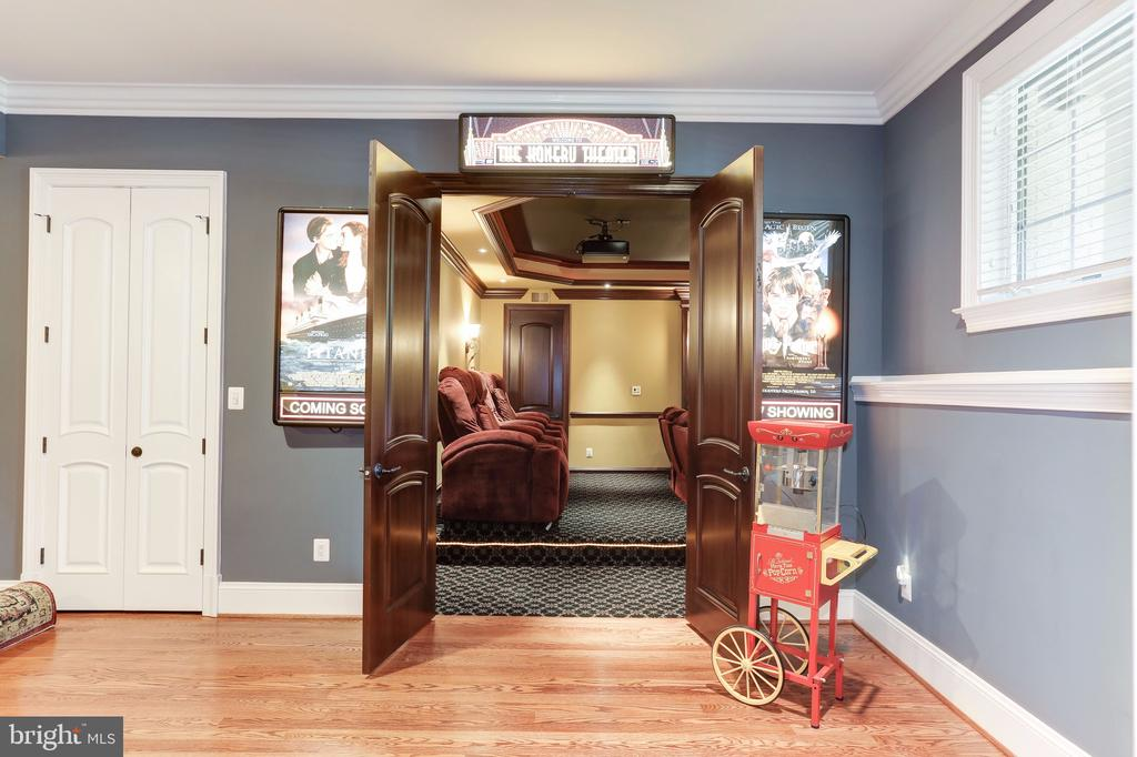 Custom Home Cinema w. 4K Projector - 8334 ALVORD ST, MCLEAN