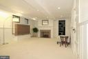 Rec Room with brick wood burning fireplace - 9510 THORNHILL RD, SILVER SPRING