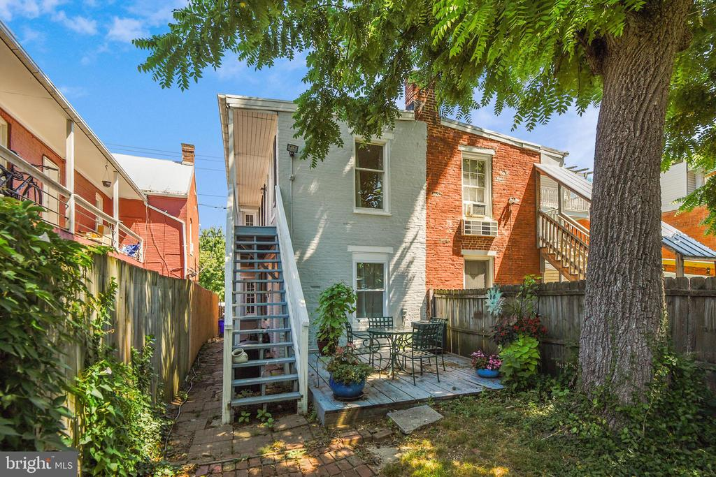 Great, private backyard.  Entertain at home! - 432 W SOUTH ST, FREDERICK