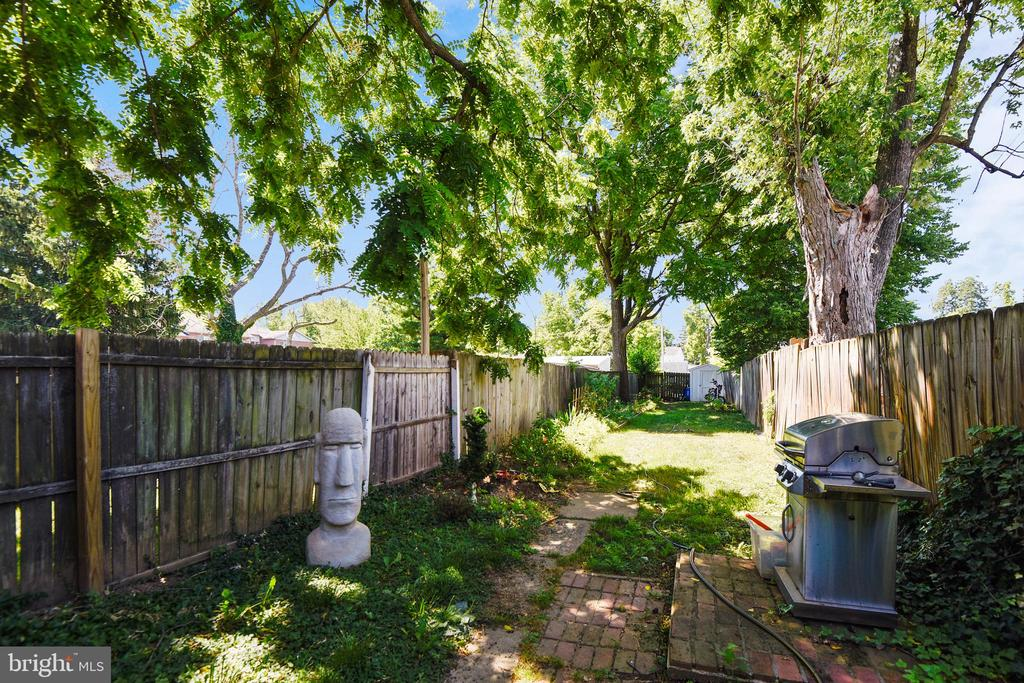 Expansive rear yard, Full Privacy Fence!  Shaded! - 432 W SOUTH ST, FREDERICK