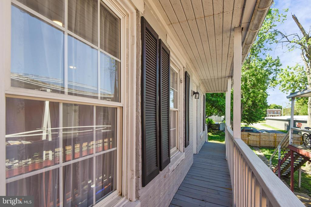 Balcony at Rear Bedroom, stairs down to the yard - 432 W SOUTH ST, FREDERICK