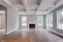 Family room with quartz fireplace - 7411 NIGH RD, FALLS CHURCH