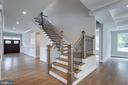 Open-Concept Staircase - 7411 NIGH RD, FALLS CHURCH